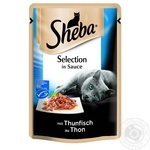 Sheba with tuna in sauce for cats food 85g