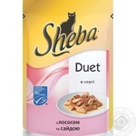 Sheba With Salmon And Pollack Fish In Sauce For Cats Food