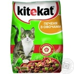 Корм для котів сухий Kitekat Асорті з Яловичиною Птицею 400г