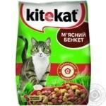 Корм для котів сухий Kitekat М'ясний Бенкет 400г