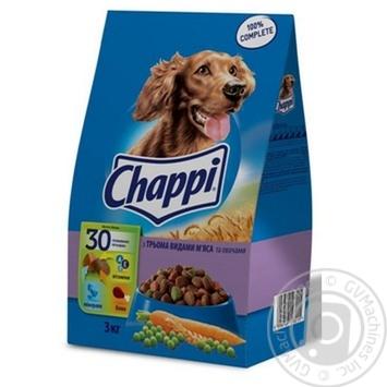 Корм для собак Chappi говядина/овощи 3кг