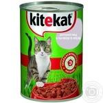 Корм для котів Kitekat домашний обед с уткой в желе 400г