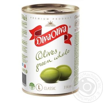 Оливки Дива Олива зеленые с косточкой 314мл