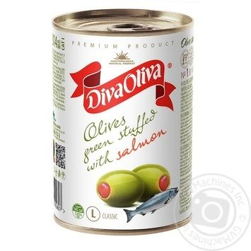 olive Diva oliva salmon green canned 300g can