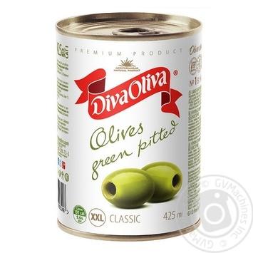 Оливки Diva Oliva зеленые XXL б/к ж/б 390г