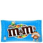 Драже M&M's с рисовыми шариками в молочном шоколаде и разноцветной глазури 36г