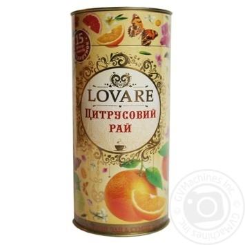 Чай черный Lovare Цитрусовый рай листовой с ягодами и фруктами 80г