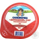 Slovianochka Cottage Cheese 9% 180g - buy, prices for Novus - image 1