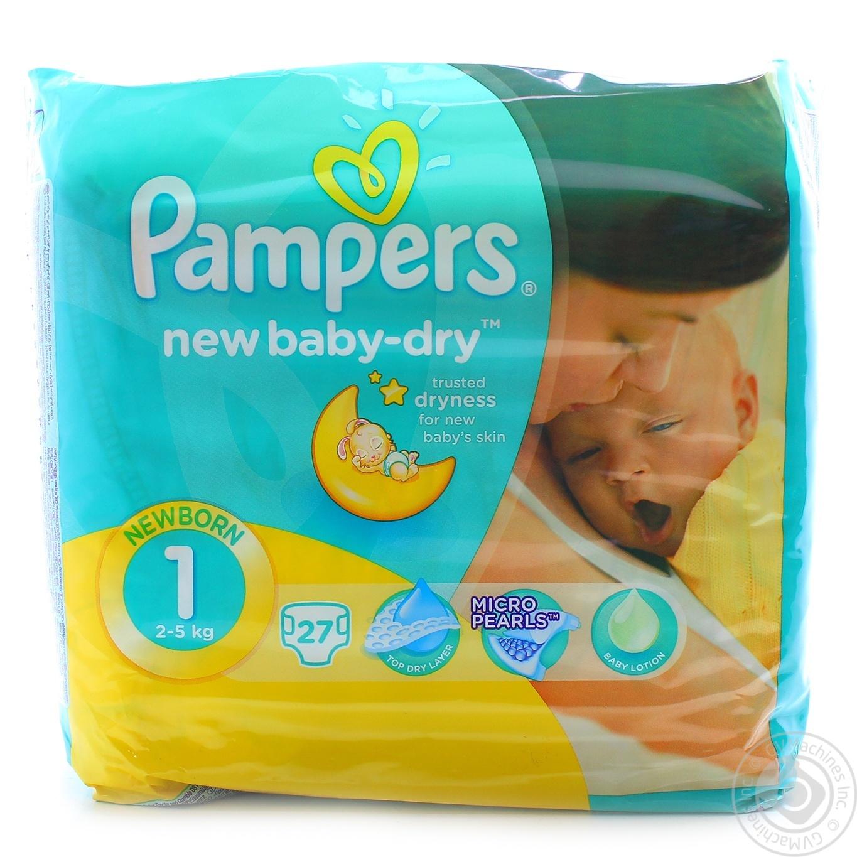 cdaedd1ef629 Подгузники Pampers New Baby-Dry Размер 1 (Для новорожденных) 2-5кг 27шт