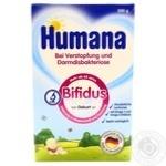 Смесь молочная Хумана Бифидус с пребиотиком лактулозой детская сухая с рождения 300г