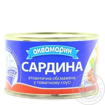Сардина Аквамарин обжаренная в томатном соусе 240г