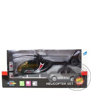 Набор игровой Big Motors вертолет и машинка