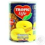 Ананас Tropic life кольца в сиропе 580мл