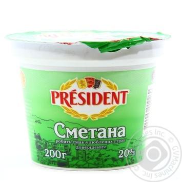 President Sour cream 20% 200g