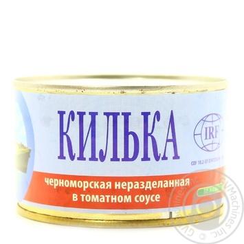 Килька IRF черноморская неразделанная в томатном соусе 230г