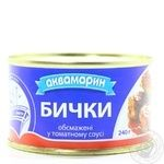 Fish gobies Akvamaryn in tomato sauce 240g can