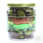 Огірки Корнішоны мариновані з листям смородини SalatMix 360г