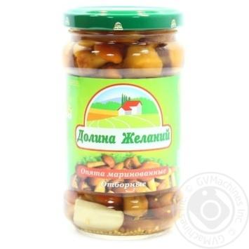 Mushrooms honey fungus Dolina jelaniy pickled 314ml glass jar