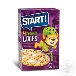 Сухие завтраки Start кольца зерновые глазированные 75г