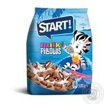 Сухие завтраки Start подушечки с молочной начинкой 500г