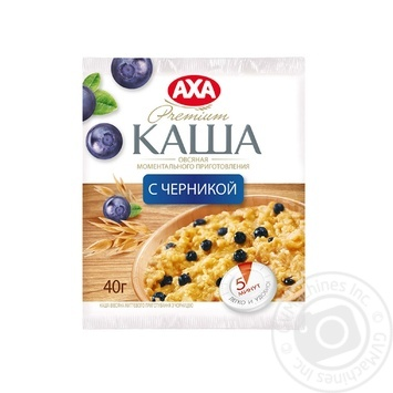 Скидка на Каша овсяная Акса с черникой моментального приготовления 40г Украина