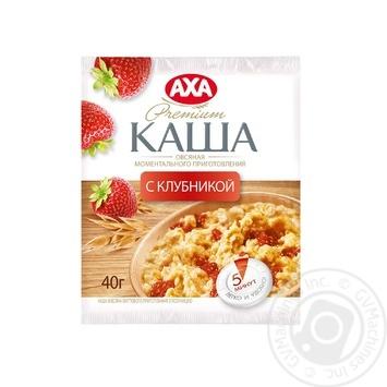 Скидка на Каша овсяная Аха с клубникой моментального приготовления 40г Украина