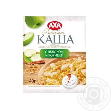 Скидка на Каша АХА овсяная с яблоком и корицей быстрого приготовления 40г Украина