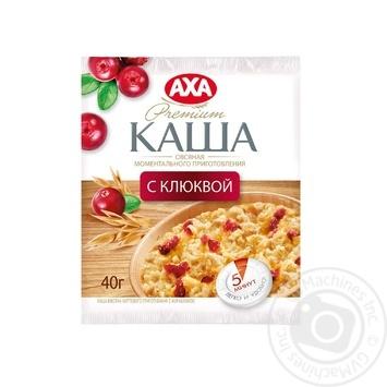 Скидка на Каша АХА овсяная с клюквой быстрого приготовления 40г Украина