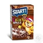 Готовый зерновой завтрак Start шарики с какао 75г