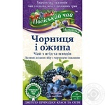 Tea Polissia tea fruit with blueberries 40g Ukraine