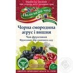 Tea Polissia tea fruit with goosberry 40g Ukraine