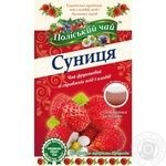 Tea Polissia tea fruit with strawberries packed 20pcs 40g