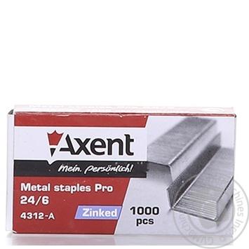 Скоби Axent PRO 24/6 1000шт - купити, ціни на Метро - фото 1