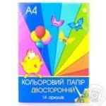 Бумага Тетрада цветная А4 14шт