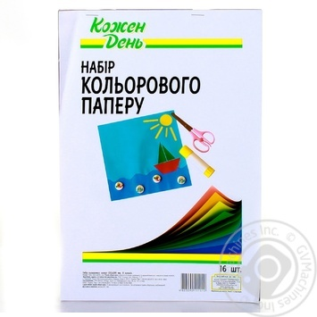 Kozhen Den Colored Paper 16 Sheets - buy, prices for Auchan - photo 1