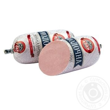 Колбаса Алан Молочная вареная в/с 400г - купить, цены на Novus - фото 1