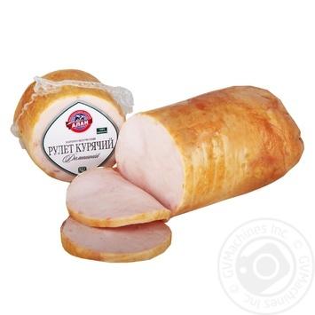 Рулет Алан Домашний куриный варено-копченый высший сорт