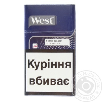 West Compact Blue Cigarettes - buy, prices for Furshet - image 1