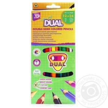Олівці кольорові Cool for school extra soft dual двосторонні трикутні 12шт - купити, ціни на Метро - фото 1