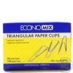 Скрепки треугольные Economix 28мм 100шт