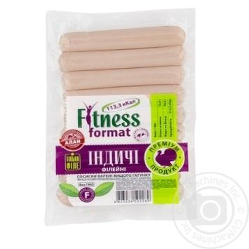 Сосиски Алан Fitness format индюшиные филейные в/с 225г - купить, цены на Novus - фото 1