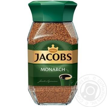 Кава Jacobs Монарх розчинна 190г - купити, ціни на Novus - фото 1