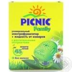 Электрофумигаторы Picnic family от комаров 45ночей 30мл