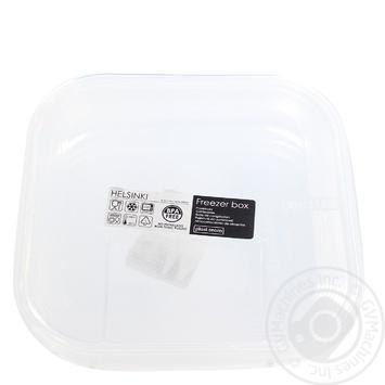 Контейнер Helsinki пластиковый квадратный 0,9л - купить, цены на СитиМаркет - фото 1
