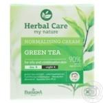 Крем для обличчя нормалізуючий на день та ніч, для жирної та комбінованої шкіри, зелений чай,  HERBAL CARE, 50мл