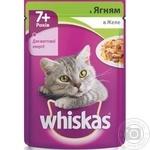 Корм для котов Whiskas 7лет+ с ягненком в желе 100г