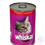 Cat pate Whiskas with beef 400g