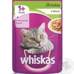 Корм для взрослых котов Whiskas с ягненком в желе 100г
