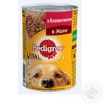 Dog food Pedigree beef for adult dogs 400g can