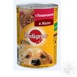 Корм для собак Pedigree консерва яловична 24*400г